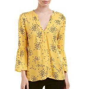 Catherine Melandrino Yellow Polka Dot Top
